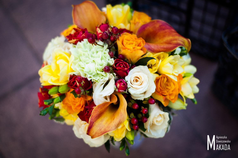 Bukiet ślubny jesienny