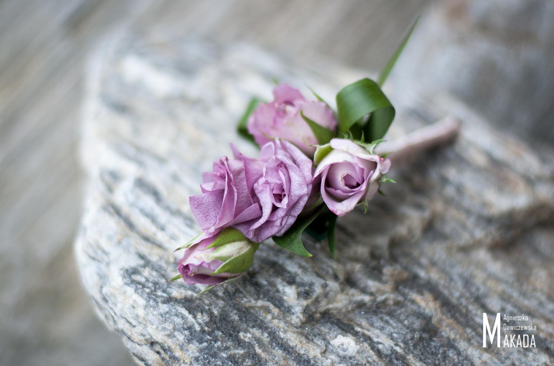 Butonierka z róż